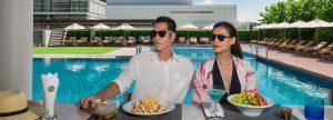 Bangkok city hotel pool bar